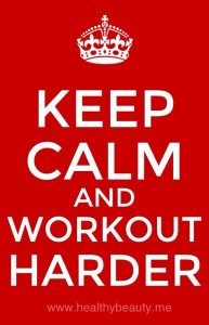 For stress relief, keep calm and workout