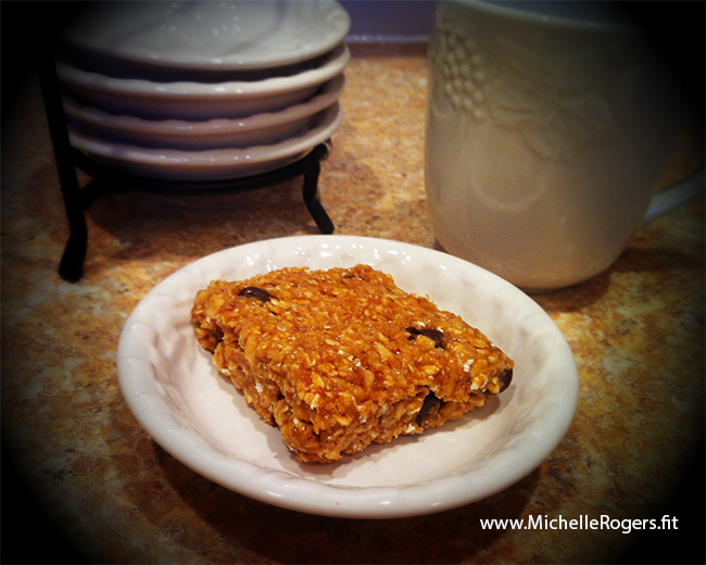 Peanut Butter and Chocolate Chip Protein Bars By Michelle Rogers