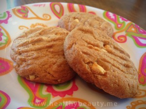 Peanut butter cookies using coconut sugar