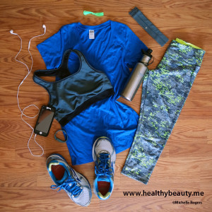 Workout outfit with RBX capris - The Healthy Beauty Blog