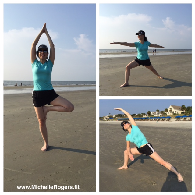 I loved the morning Beach Yoga class! What a way to do yoga -- looking out over the ocean and sunrise.