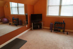 #Howto Create a Home #Workout Room on a Budget - www.MichelleRogers.fit