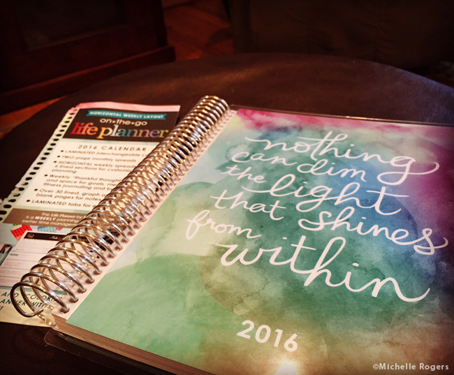 2016 will be a busy year. I found this great planner at Staples to help me keep track of it all.