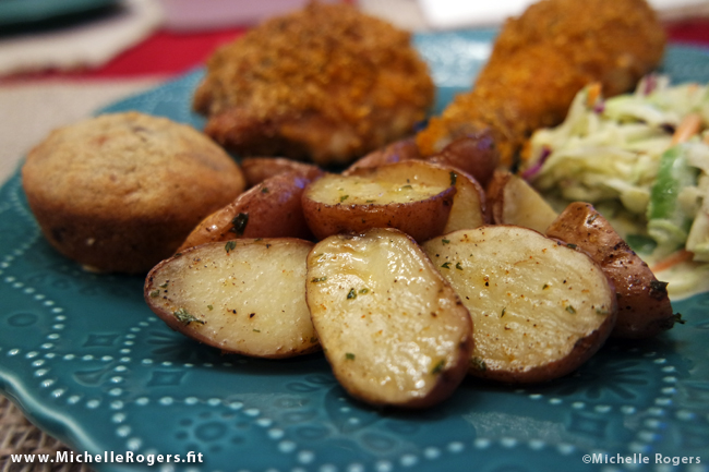 Easy Roasted Baby Potatoes - www.MichelleRogers.fit
