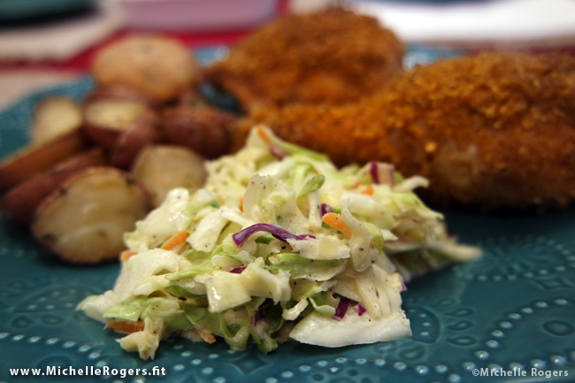 Simple Southern Cole Slaw - www.MichelleRogers.fit