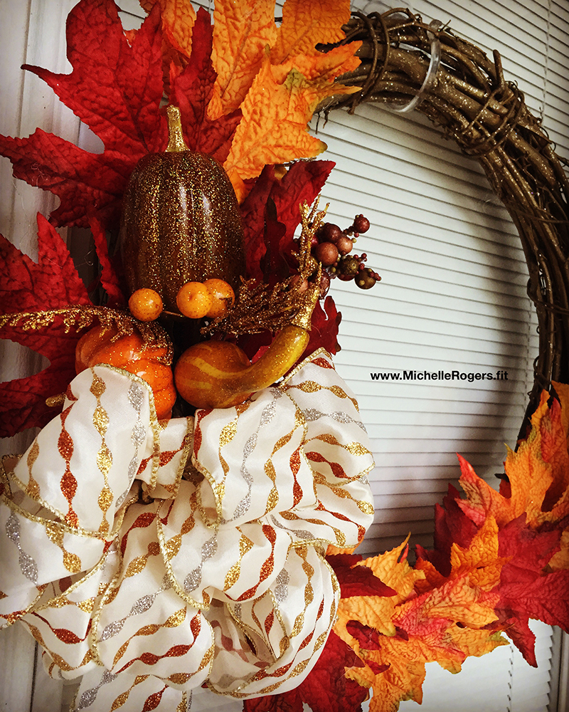 Fall wreath by Michelle Rogers - www.MichelleRogers.fit