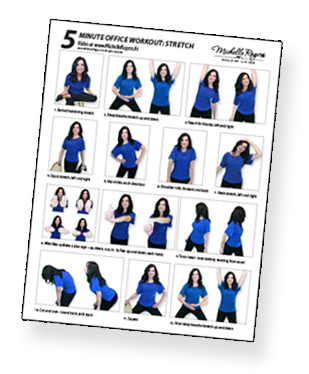 download and print this 1 page exercise guide and post it by your desk