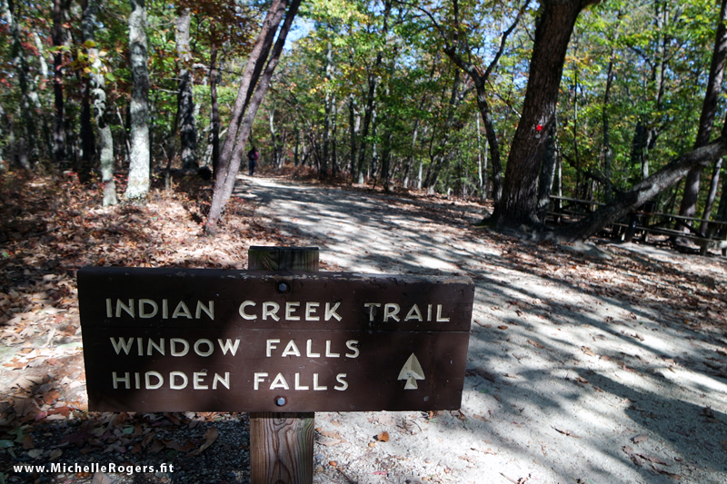 The Indian Creek Trail features two waterfalls