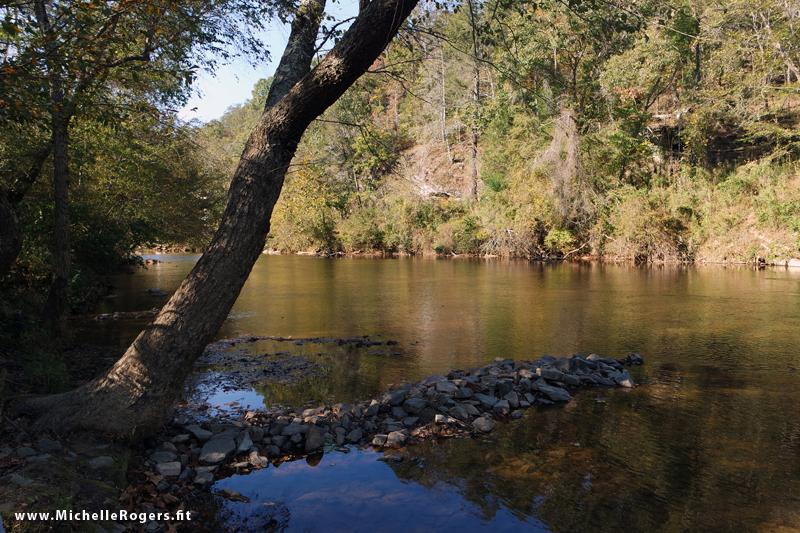 Dan River at the canoe access