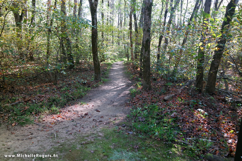 The Indian Creek Trail at the Dan River end