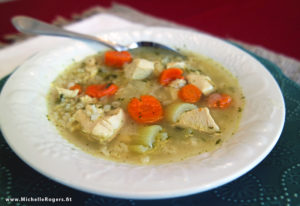 how to make chicken and rice soup - recipe