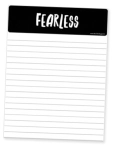I created notepaper to write down goals and to journal accomplishments each day. Click to download.