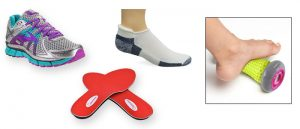 Shoes and accessories for running and walking