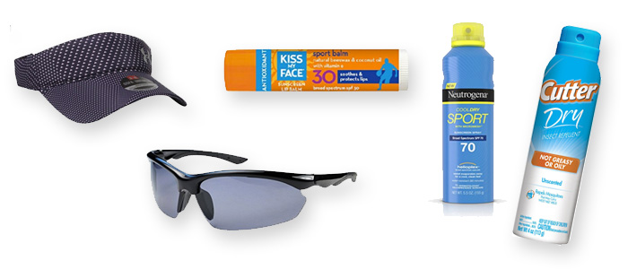 Skin and eye protection for runners and walkers