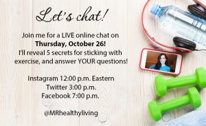Join me for a live online chat on Thursday, Oct. 26