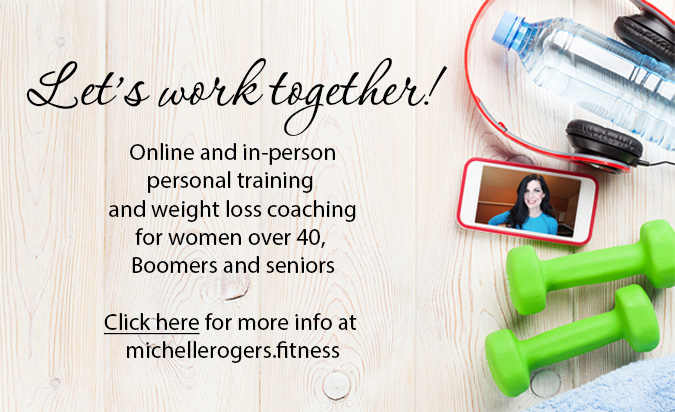 Online personal training for women over 40, Boomers, seniors by Michelle Rogers