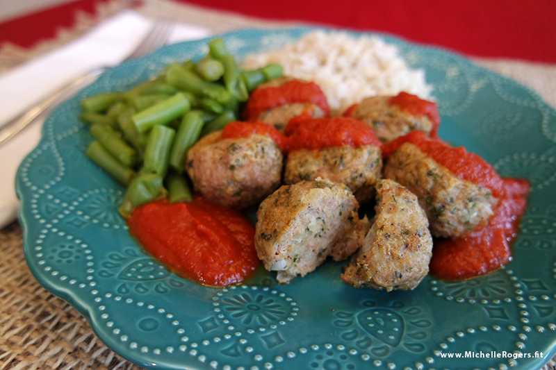 Healthy yummy turkey meatballs recipe - Michelle Rogers Healthy Living