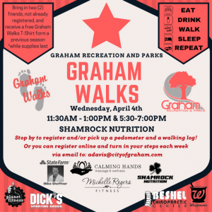 Graham Walks + 2 walking workshops