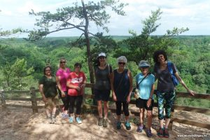 Ladies celebrate National Trails Day with a hike