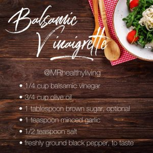 Simple and delicious balsamic vinaigrette dressing recipe