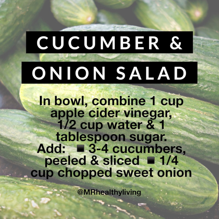 Cucumber and onion salad recipe by Michelle Rogers Healthy Living