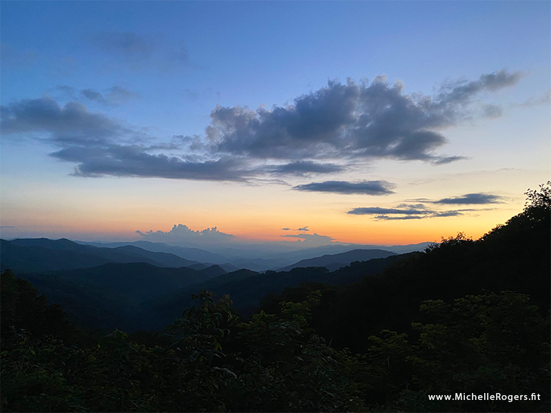 Sunset on the Blue Ridge Parkway - Michelle Rogers Healthy Living