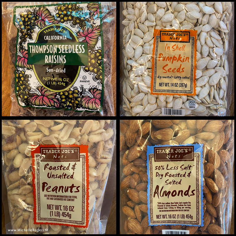 trail mix ingredients - Michelle Rogers Healthy Living