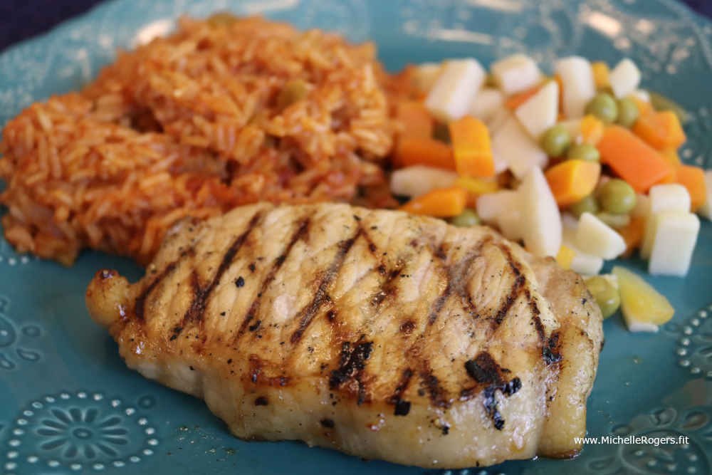 Stovetop Grilled Pork recipe - Michelle Rogers Healthy Living